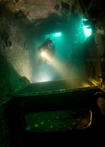 Inside the Canadian Destroyer HMCS Yukon. by Matthew Fischbach 